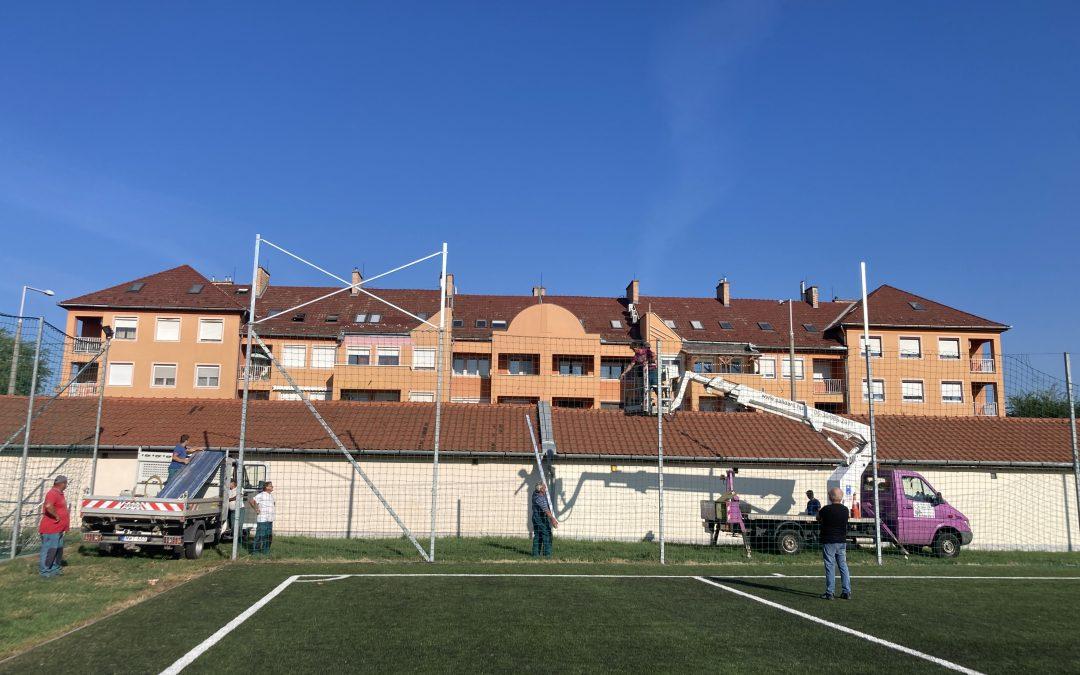 Bővül a labdafogó háló felülete
