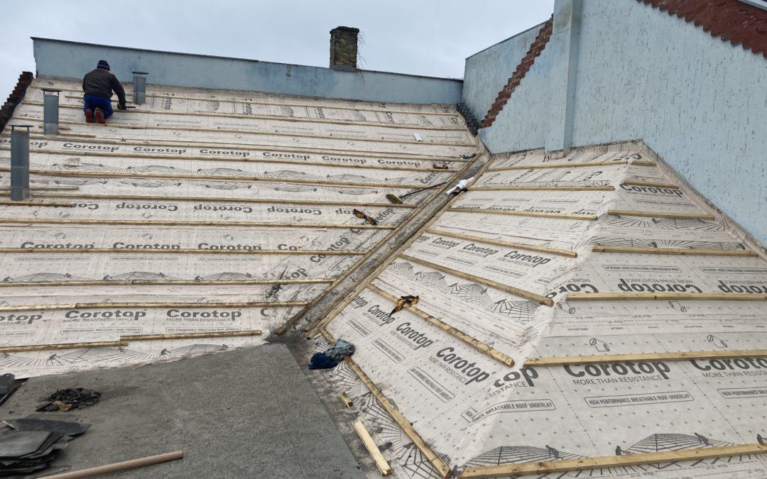Megkezdődött az egyesületi székház tetőfelújítása