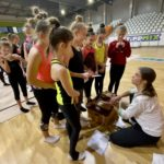 Korábbi válogatott látogatta meg a ritmikus gimnasztika szakosztály edzését